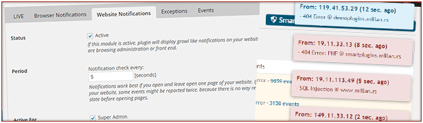 Website Notifications: Get quick notifications on website pages