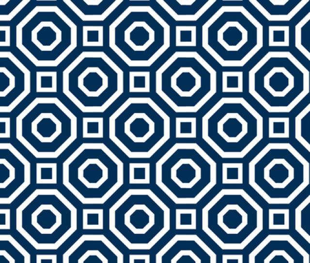 Geometry Classic Navy Fabric By Alicia_vance On Spoonflower Custom Fabric