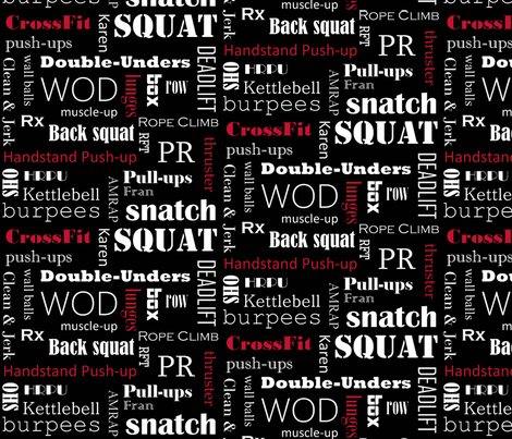 Red On Black Crossfit Subway Art Black Wallpaper