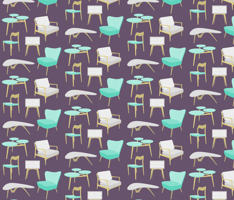 Midcentury Home Retro Fabric with Boomerang Tables, Top Ten Cool Retro Fabrics