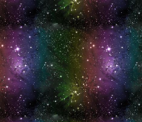 Rainbow Galaxy Nebula Fabric giftwrap lovelylepidoptera