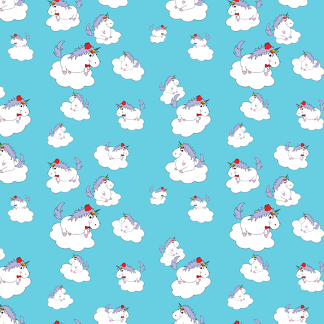 Unicorns with Fezzes in the Clouds