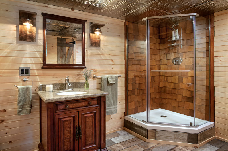 Log Home Bathroom Design Ideas Whether you re planning a pie in the sky luxurious bathroom or one that s a  little more down to earth  investing time  thought and  yes  a little money  in