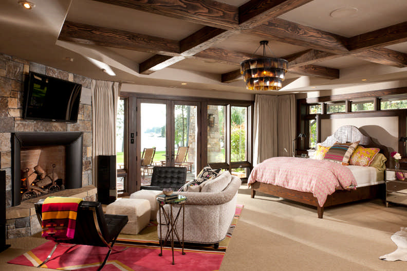 Suite Dreams: Timber Home Master Bedroom Design on Dream Master Bedroom  id=40783