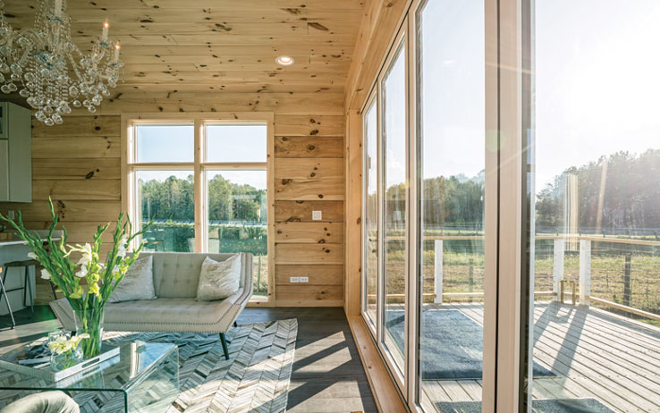 """The """"Luxe Log Home"""" That Breaks The Mold"""