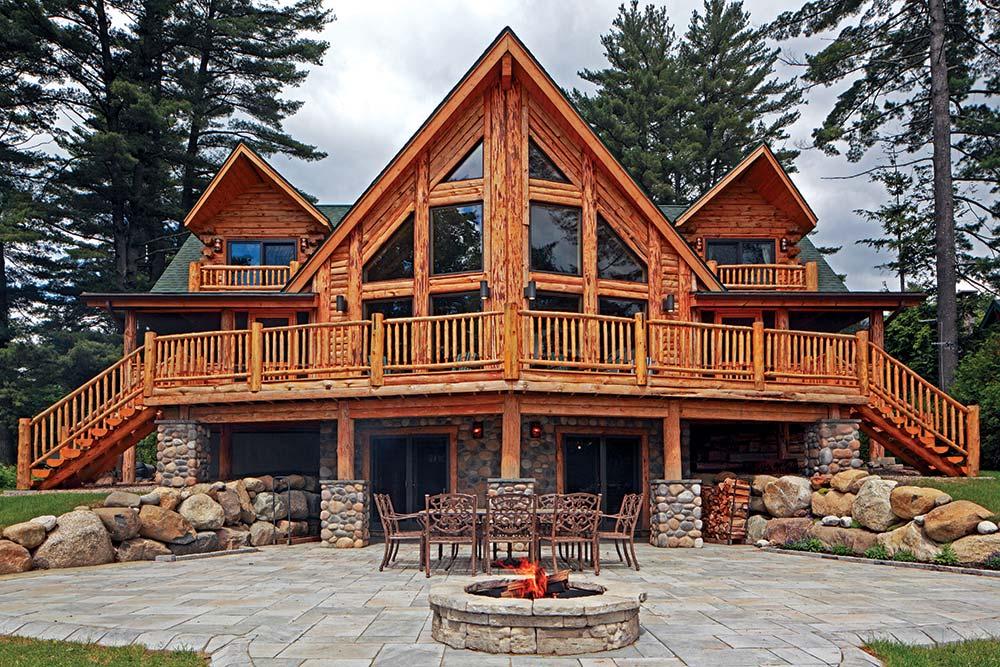 A Lakeside Retreat Log Home In The Adirondacks