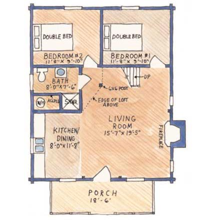 Moshannon Cabin Floor Plan By Country Log Cabins