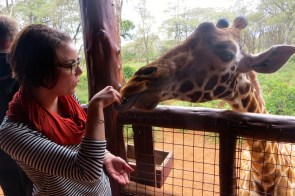 Me and the giraffe