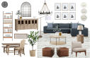Bohemian Farmhouse Living Room Design By Havenly Interior