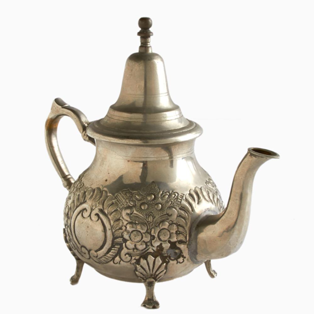 Vintage Moroccan Larkspur Silver Teapot