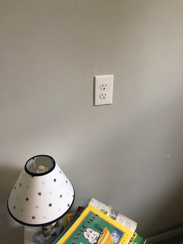 New Orleans, LA - Electrical install in New Orleans. Move outlet up for safety reasons for toddler.