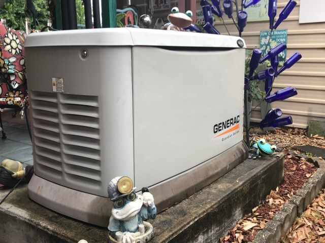 Metairie, LA - Who says you can't make a home standby generator look good in New Orleans? Who dat Trinity that! Yes and it's works very well