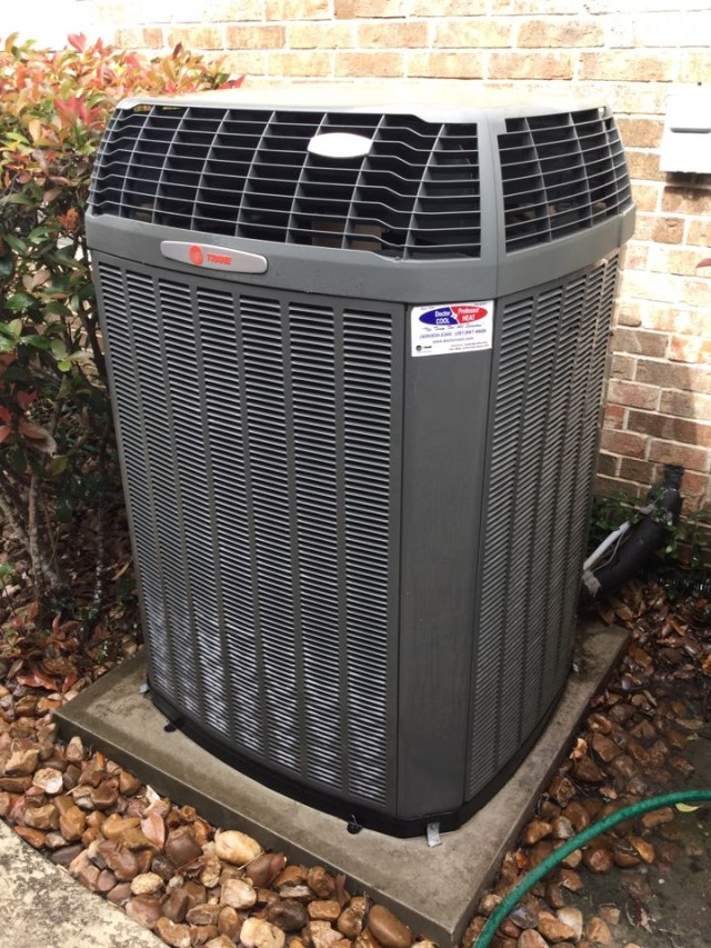 Baytown, TX - Performed routine maintenance on a full Trane system installed by Doctor Cool and Professor Heat