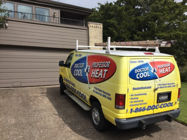Houston, TX - Servicing Trane system in Nassau Bay.