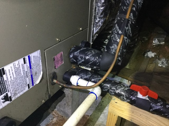 Alvin, TX - Maintenance a  air-conditioning unit,  sanitizing the condensation drain line to minimize bacteria  build up in the drain line.  Checking all electrical and airflow static pressures related to the air conditioning system.