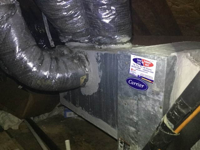 Texas City, TX - I'm performing a air-conditioning maintenance on 2 units. Maintenancing the units to prevent a no cool situation. Checking and servicing the outdoor and indoor components to prevent the unit from running excessively long and not cooling.  Cleaning and sanitizing the drain lines to prevent  excessive water leakage or a drain clog or excessive drip of water flow from the drain line.