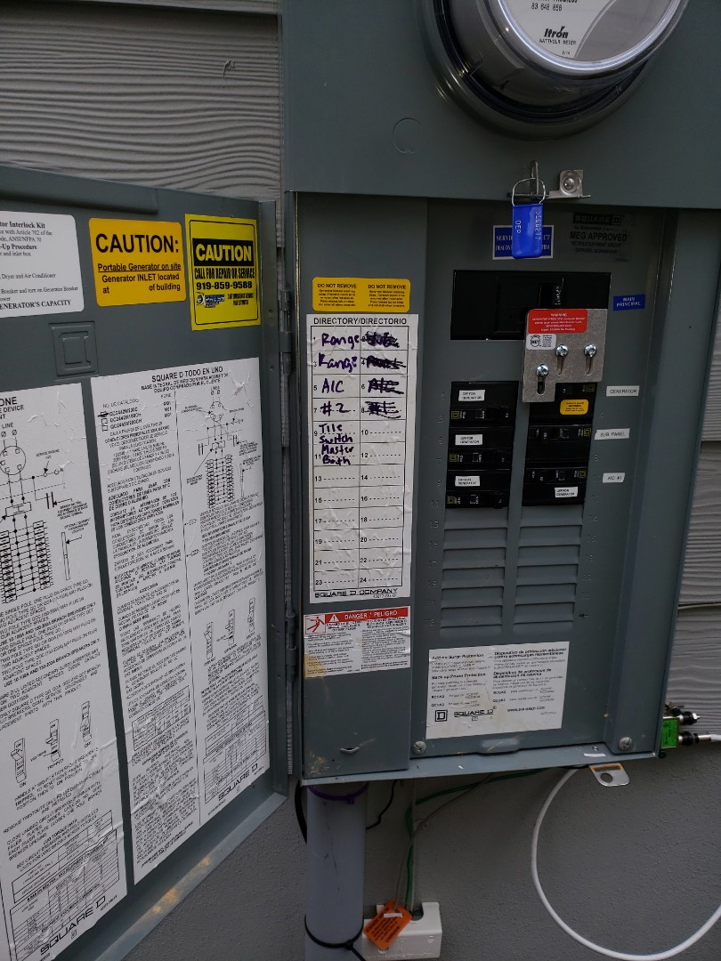 Knightdale, NC - Selling generator and receptacles