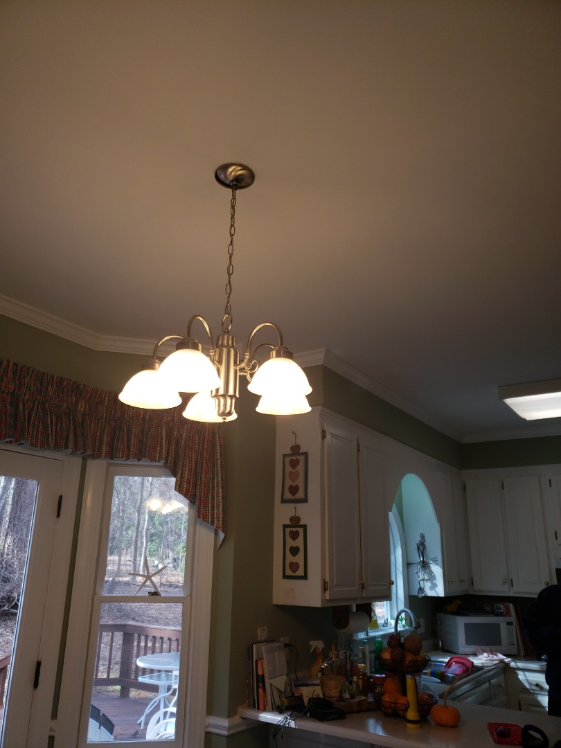 Wake Forest, NC - Replacing light fixture