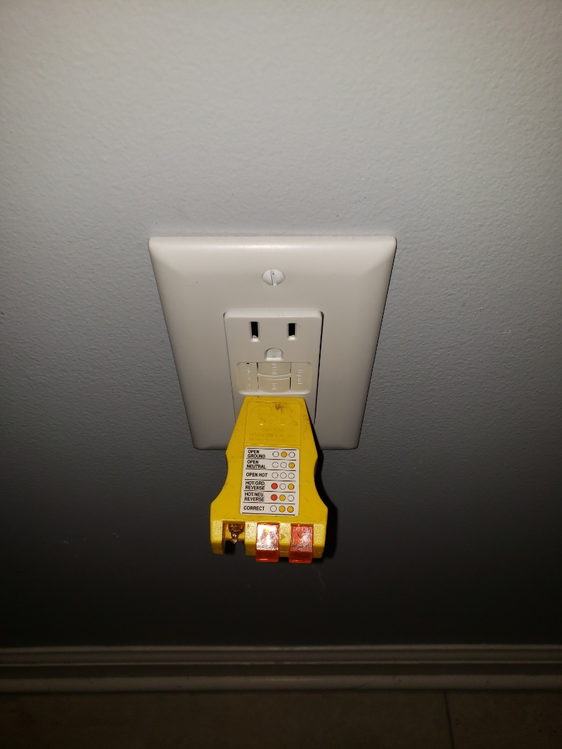 Knightdale, NC - Added a gfci receptacle in bathroom