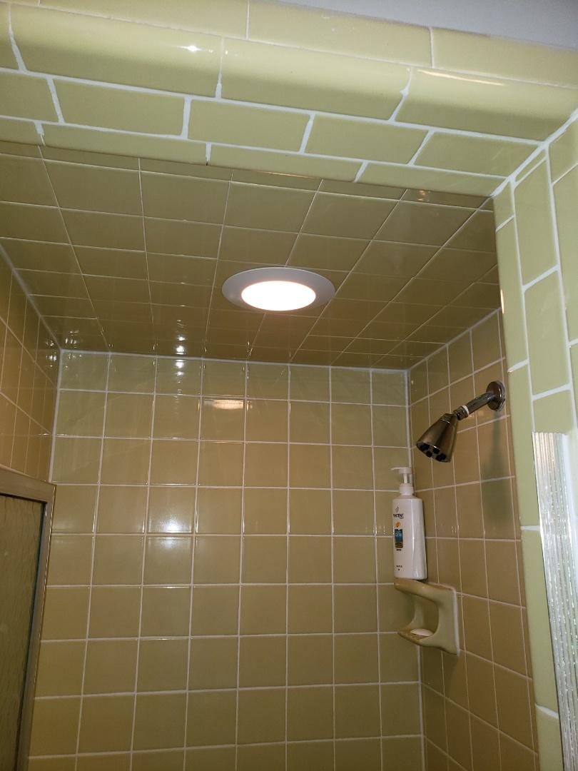 Raleigh, NC - Fix shower light