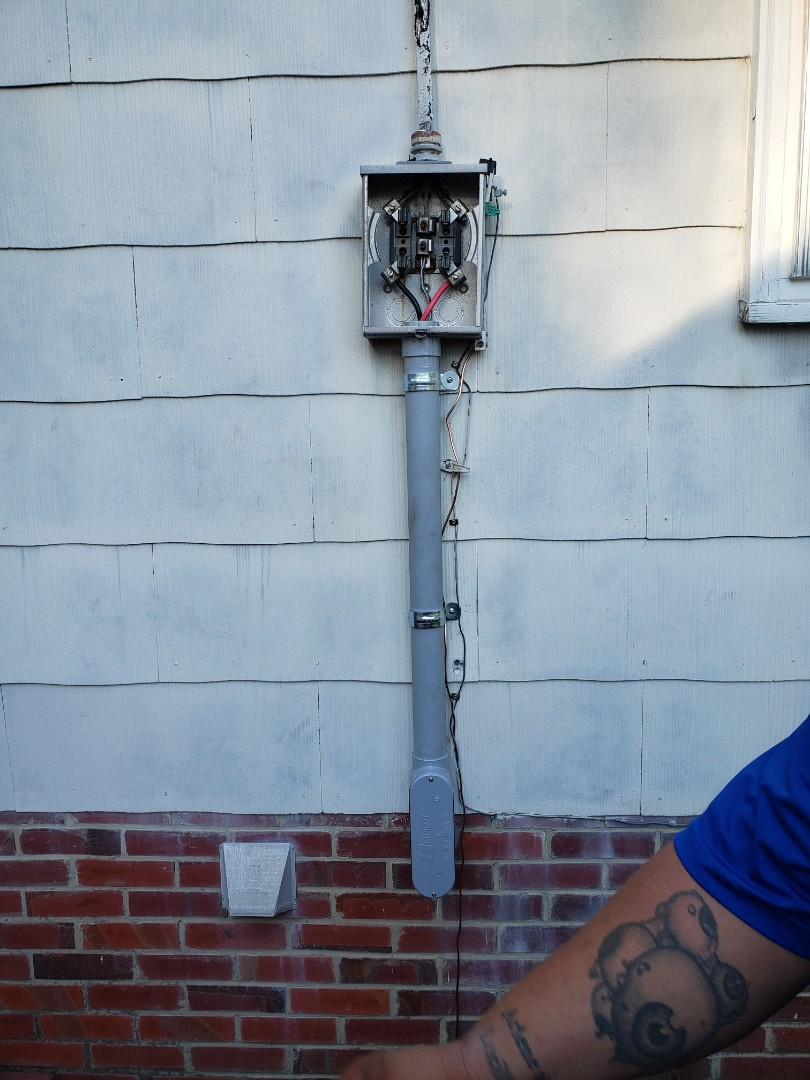 Raleigh, NC - Repaired service wire from meter base to sub panel in house