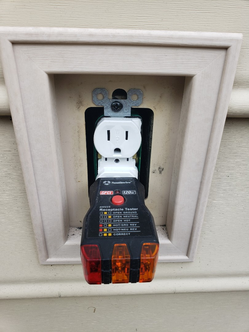 Smithfield, NC - Replace outdoor outlets with new w/p outlets due to corrosion and rust