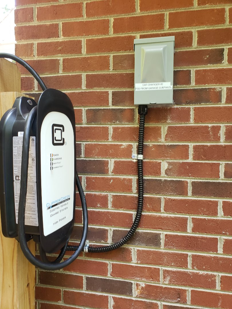 Raleigh, NC - Install two 50 amp car charging circuits