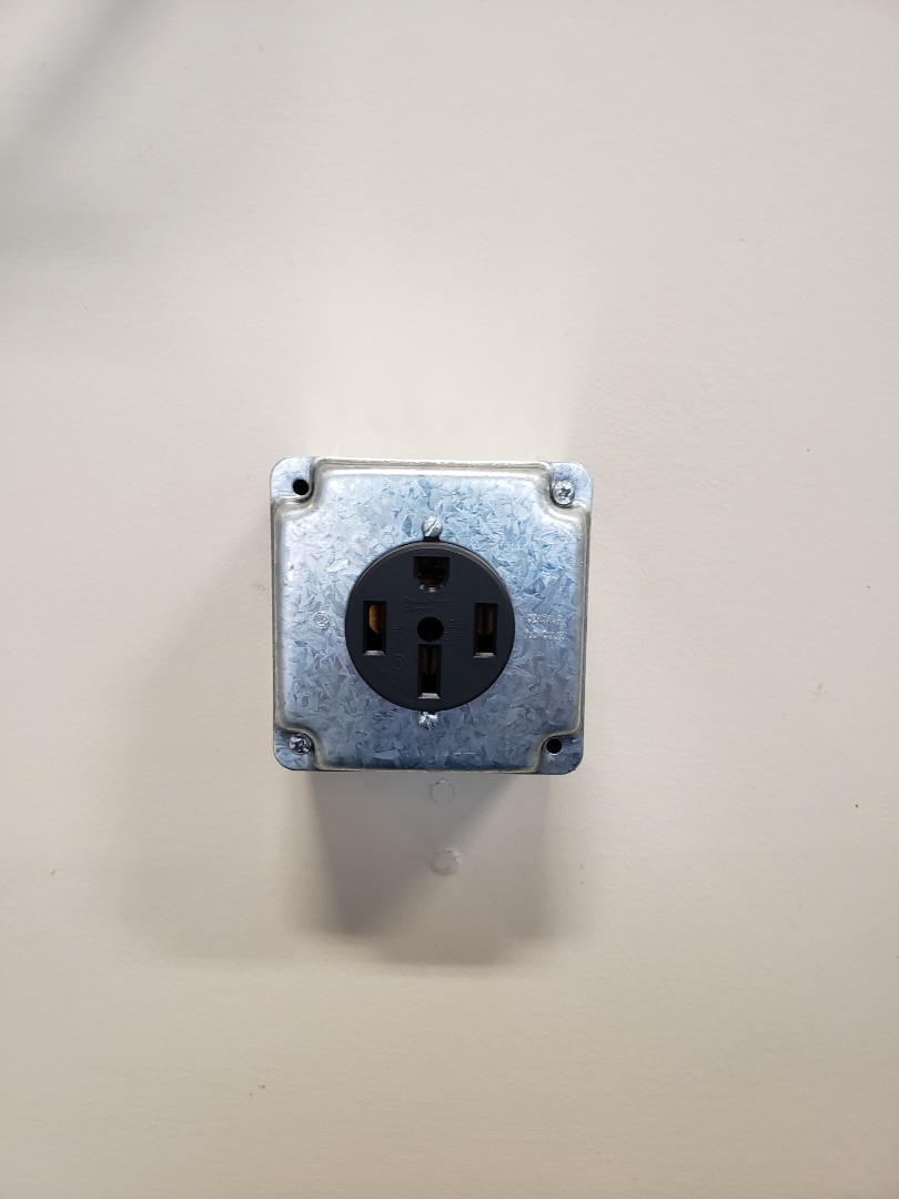 Wake Forest, NC - Customer needed a 240volt receptacle added in garage for an electric car