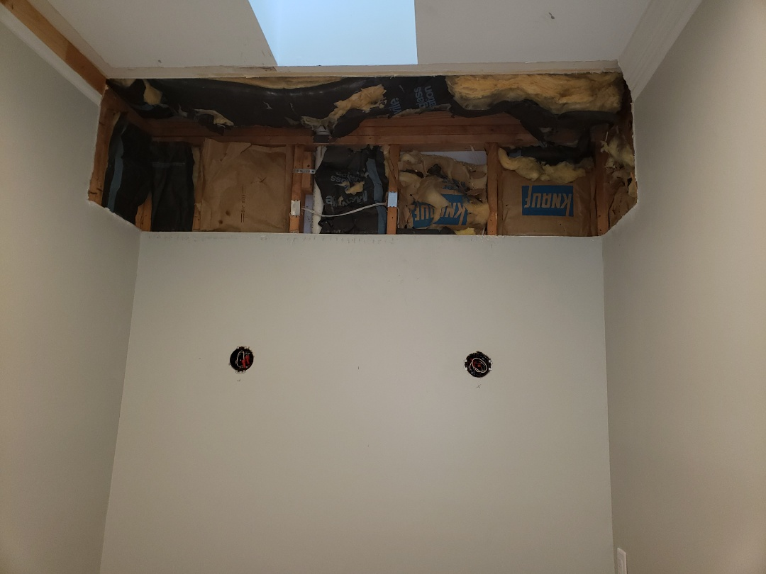 Durham, NC - To prewire vanity lights for bathroom