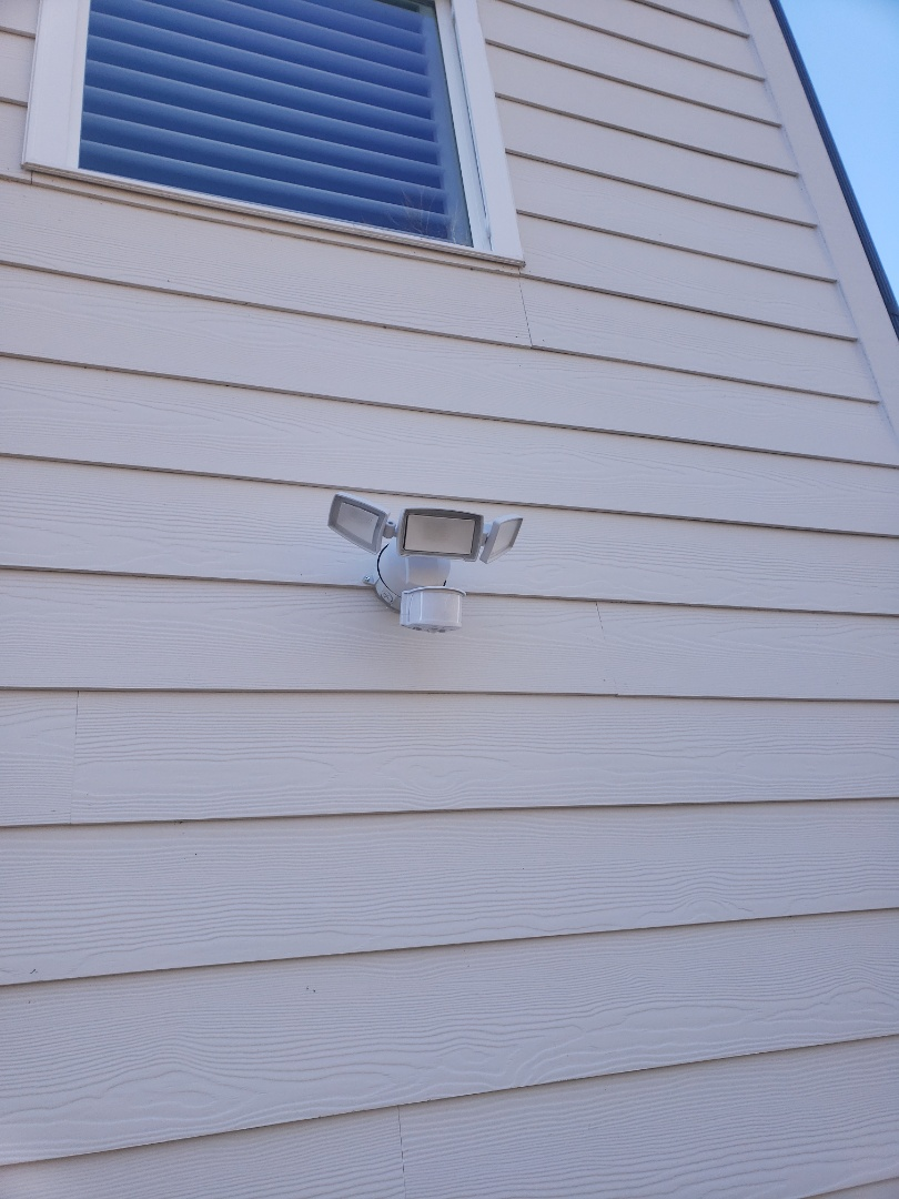 Cary, NC - Prewire and install customer supplied outdoor led floodlights