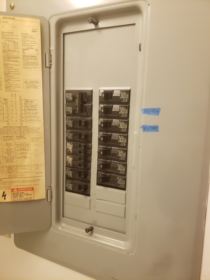 Garner, NC - Troubleshoot faulty circuits throughout the house, found loose connections in the panel box