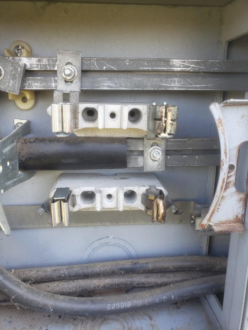 Smithfield, NC - Fix burnt up outdoor meter sockets.
