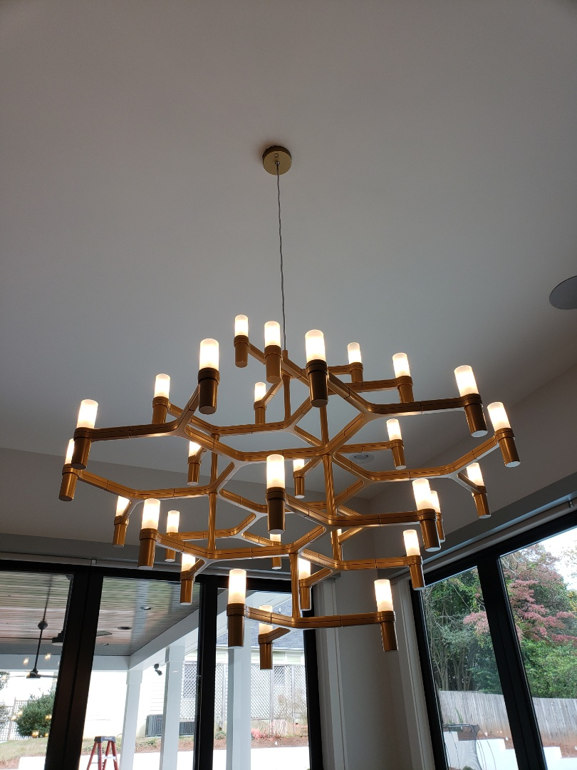 Raleigh, NC - Install chandelier in dining room