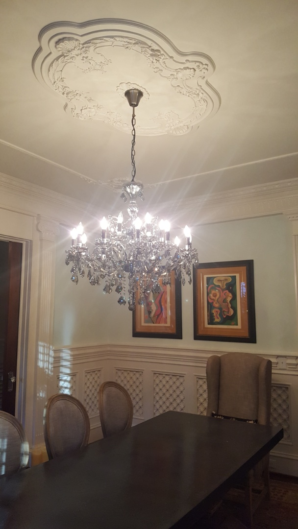 Raleigh, NC - Hang and assemble chandelier