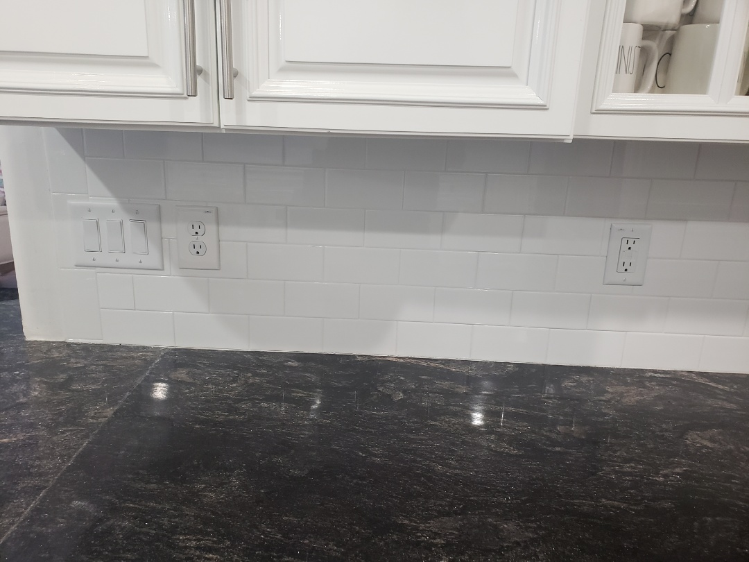 Raleigh, NC - Replace kitchen outlets with new white outlets and switches