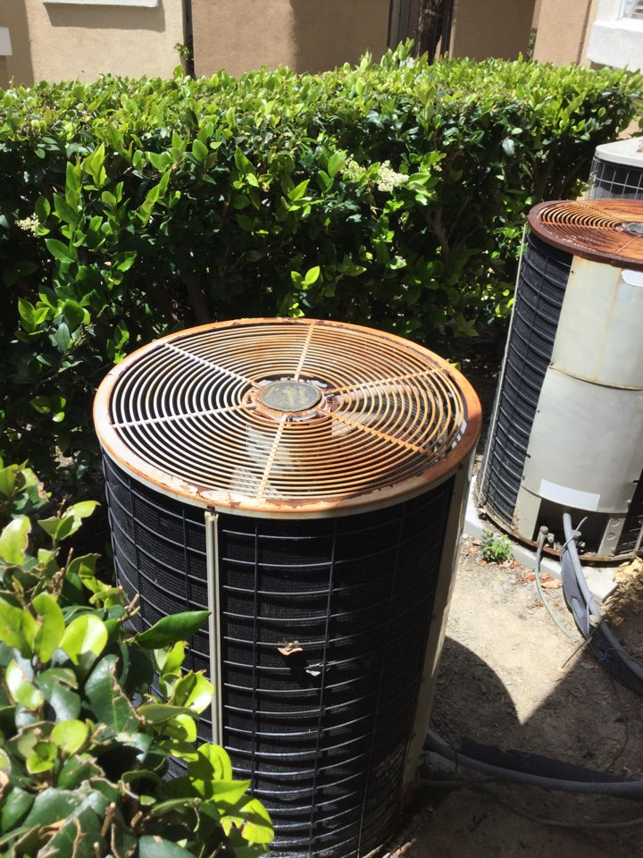 Aliso Viejo, CA - Repairing a short inside this condenser today.