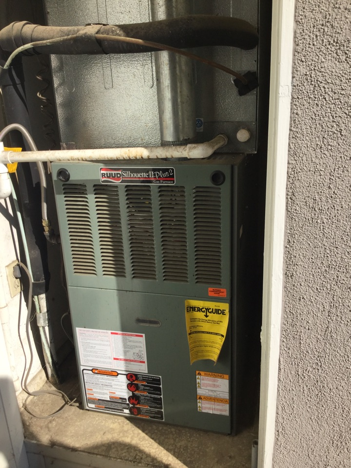 Mission Viejo, CA - Working on a furnace