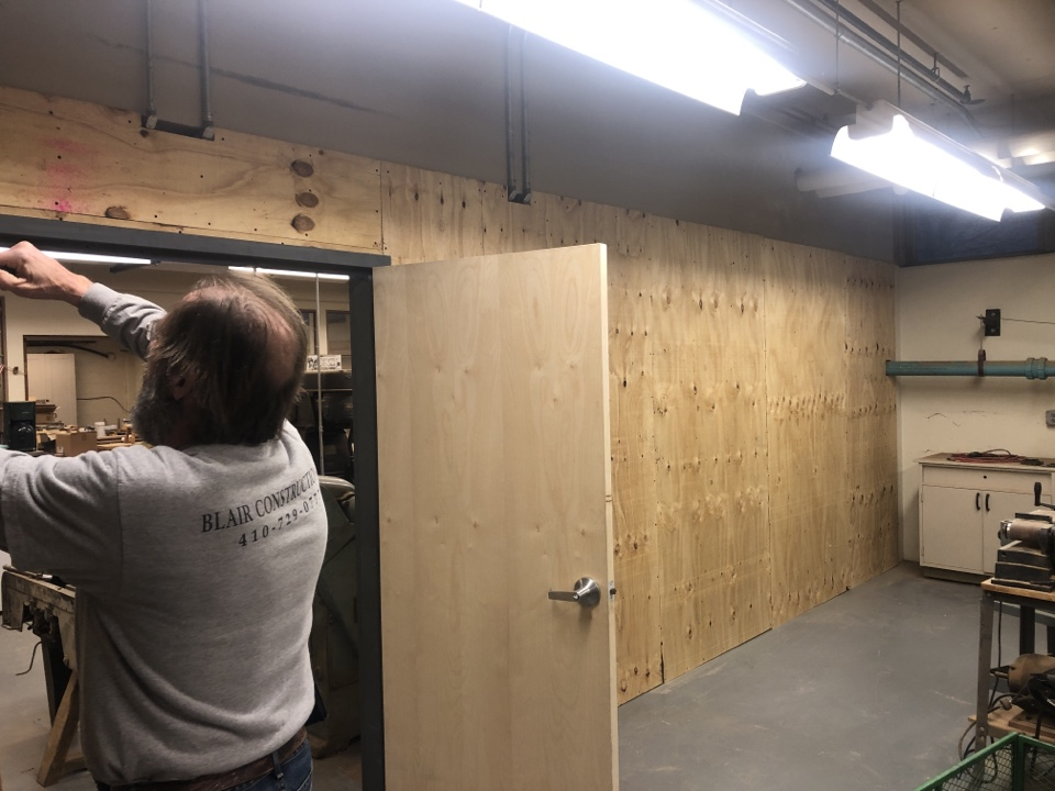 Annapolis, MD - Framing a new wall at the college