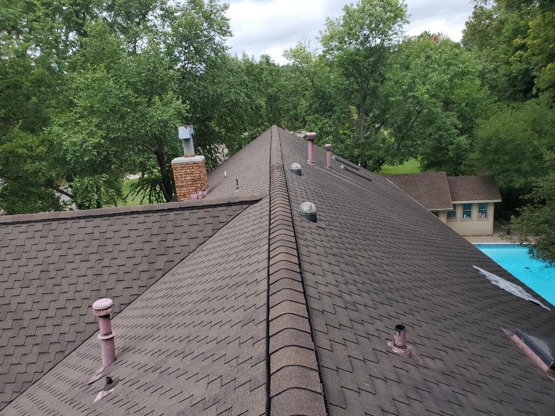 Tulsa, OK - Roof leak inspection.