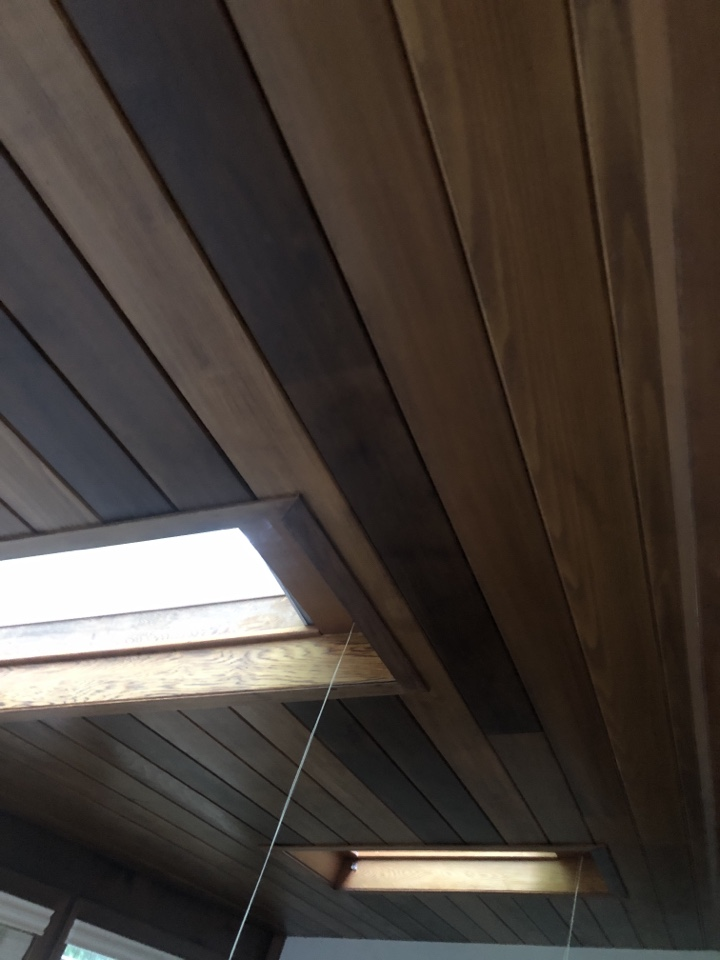 Annapolis, MD - Skylight replacement with cedar tongue and groove on ceiling