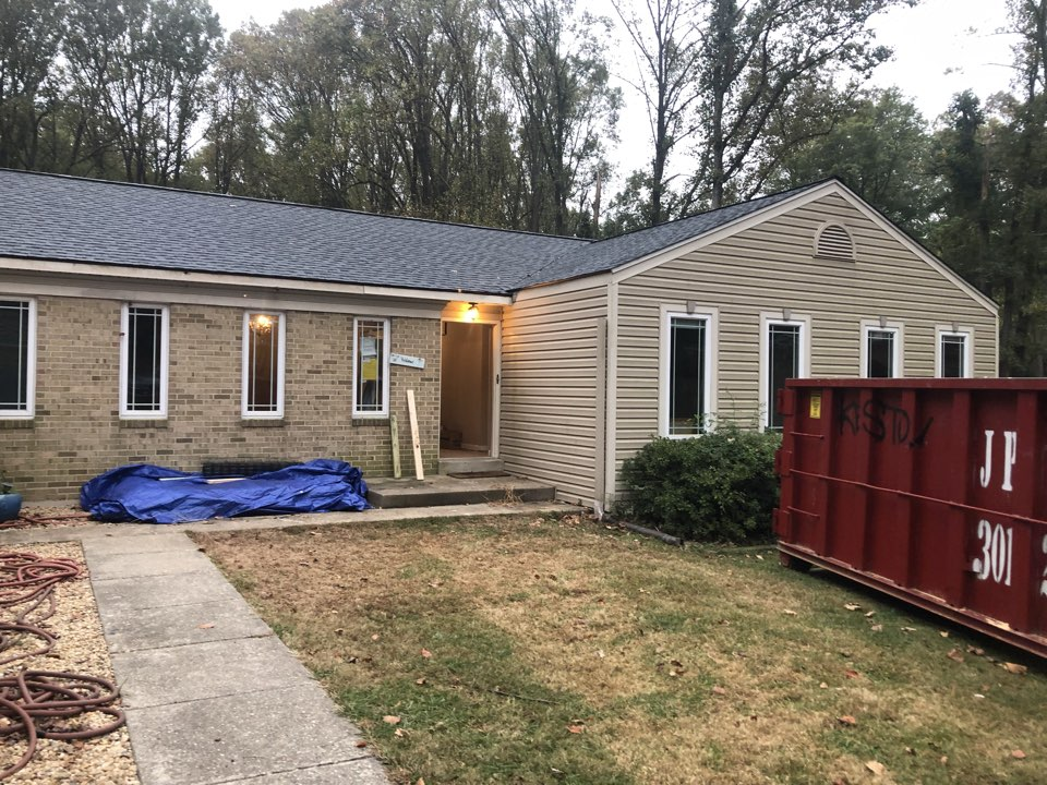 Clarksville, MD - Roof repair from trees falling down on the house