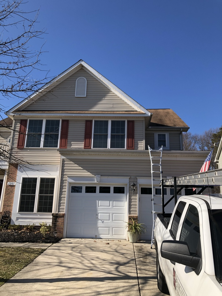 Abingdon, MD - Measuring a roof for replacement