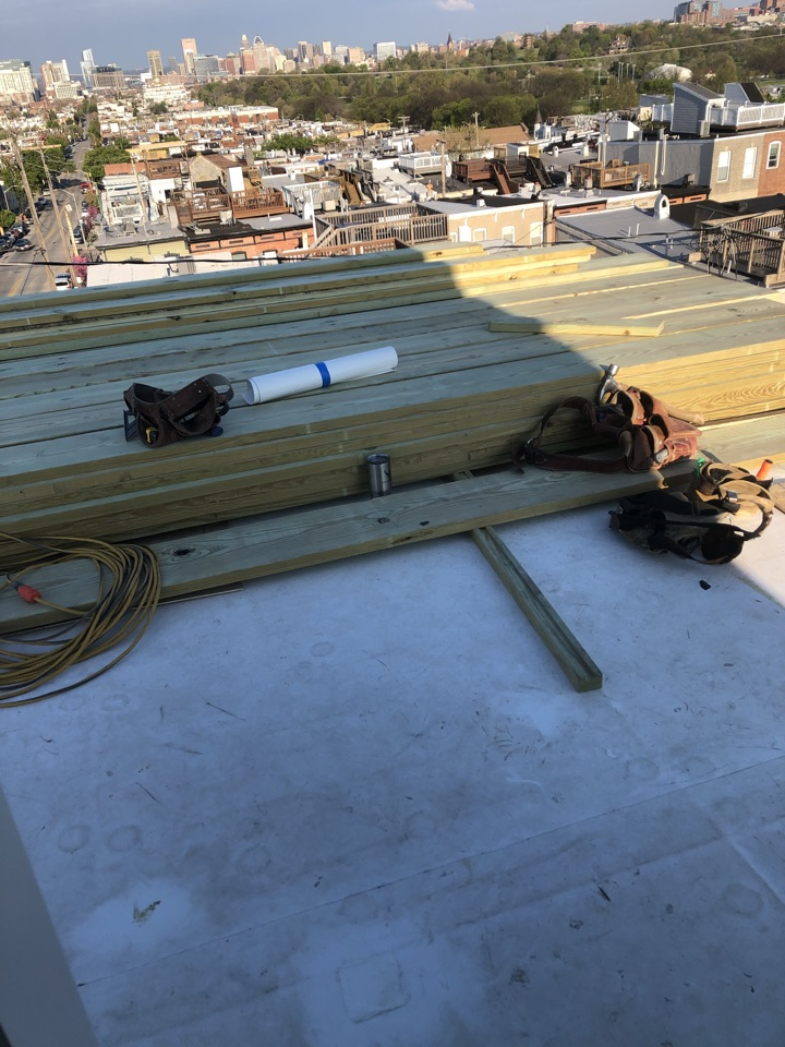 Baltimore, MD - Start of new roof top deck replacement