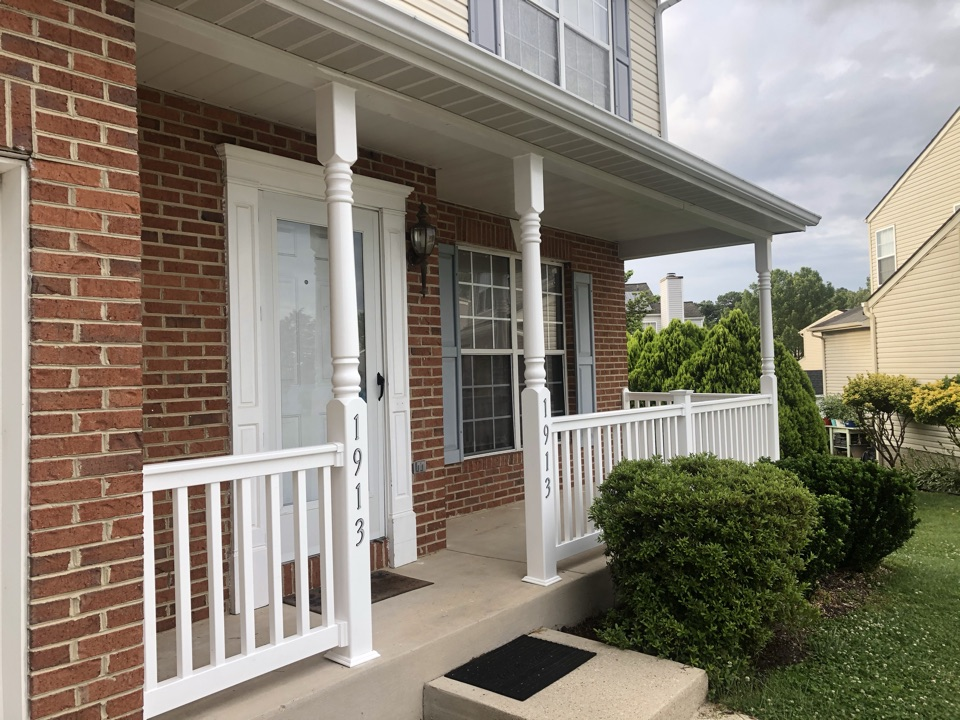 Odenton, MD - Porch rails and move a wall