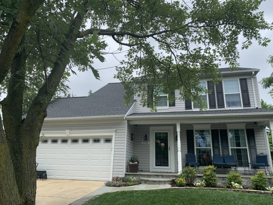Odenton, MD - Removed and replaced shingle roof with new Timberline HDZ Charcoal.