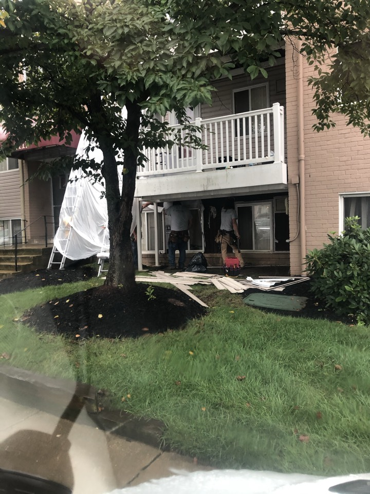 Forest Heights, MD - Siding repair on apartments