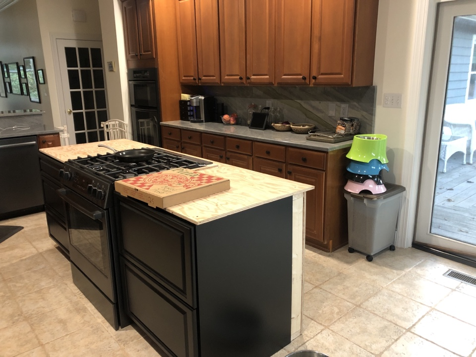 Severna Park, MD - New kitchen island with new countertops