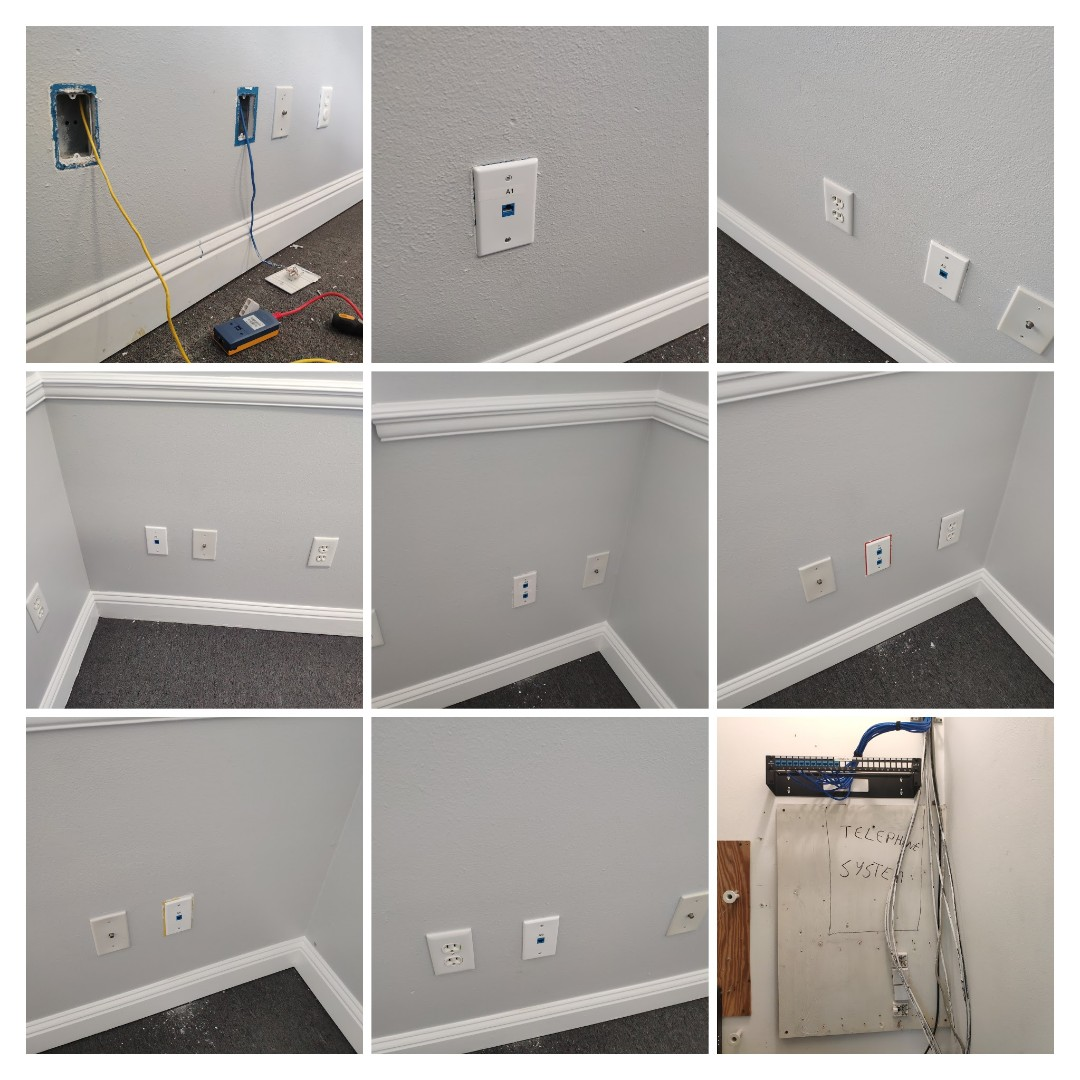 Fort Walton Beach, FL - Installing new structured network cabling for office in Fort Walton