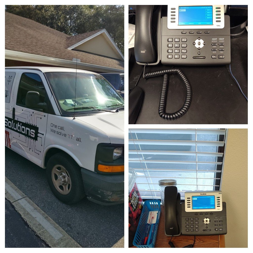 Milton, FL - Installing our VoIP phones and services at an office.