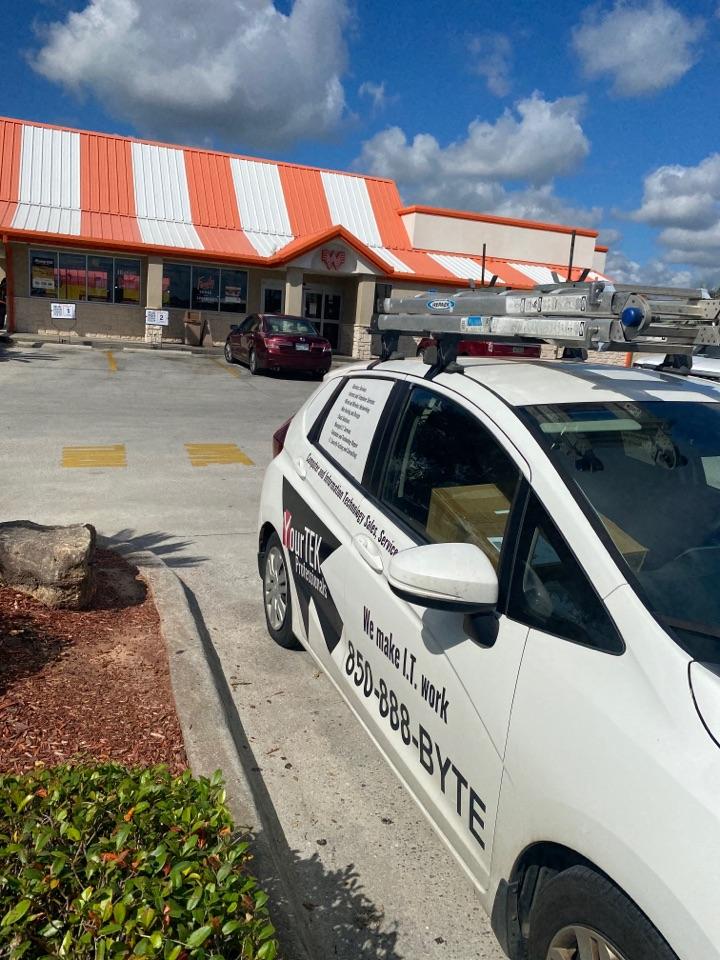 Pensacola, FL - Helping this Whataburger get a register back online
